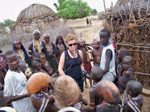 Etiyopya'nın güneyi, etnik kabilelerin yaşam sürdüğü Omo Vadisi'ndeki Müsliman kabile Arborelar ile...
