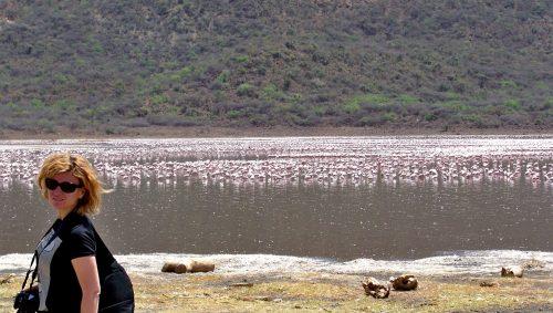 Bogoria Gölü sakinleri, pembe filamingolar, Kenya...